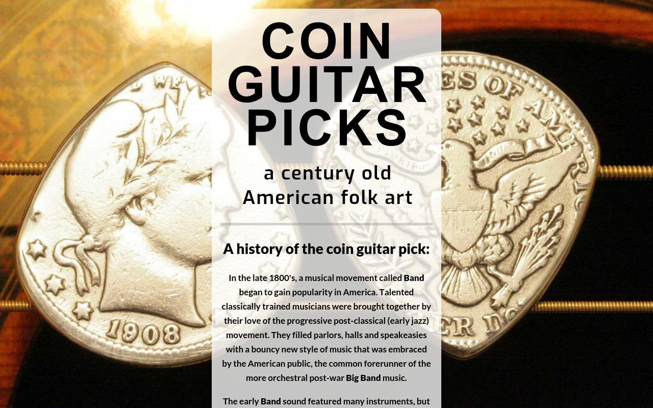 Coin Guitar Picks : a century old American Folk Art